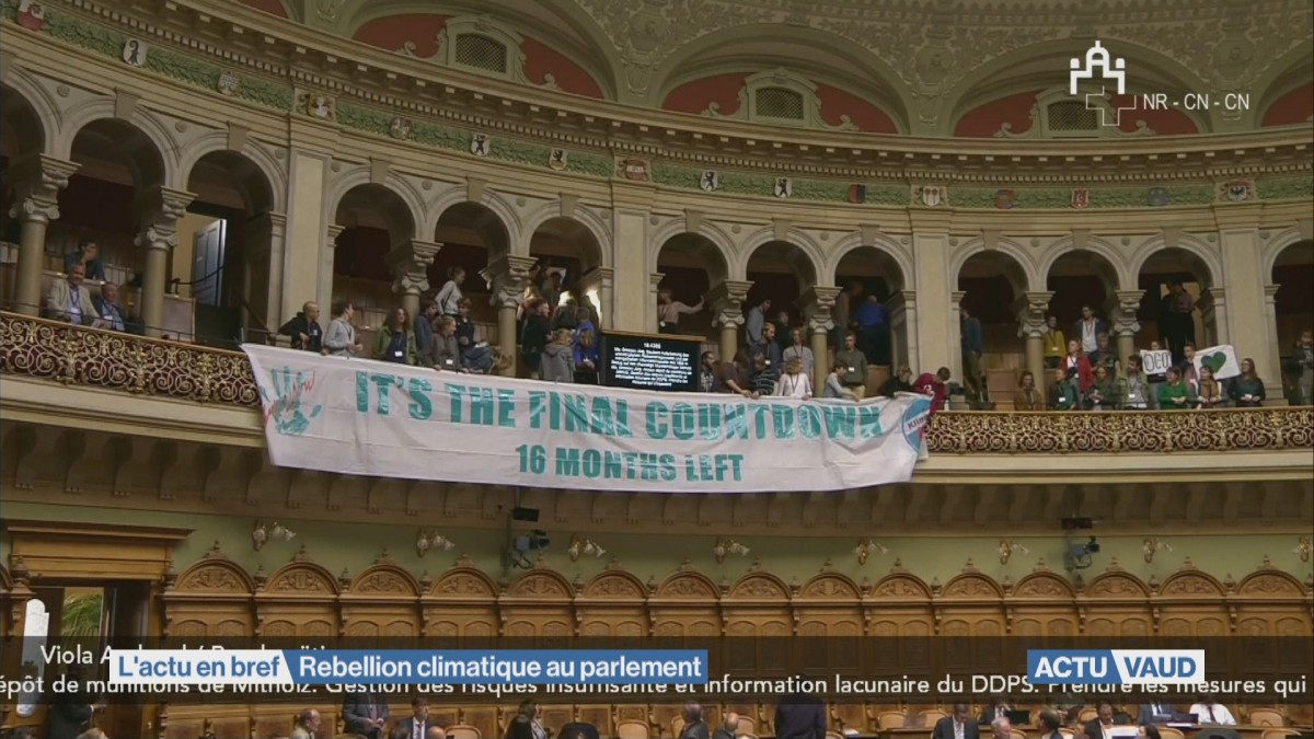 Rebellion climatique au parlement