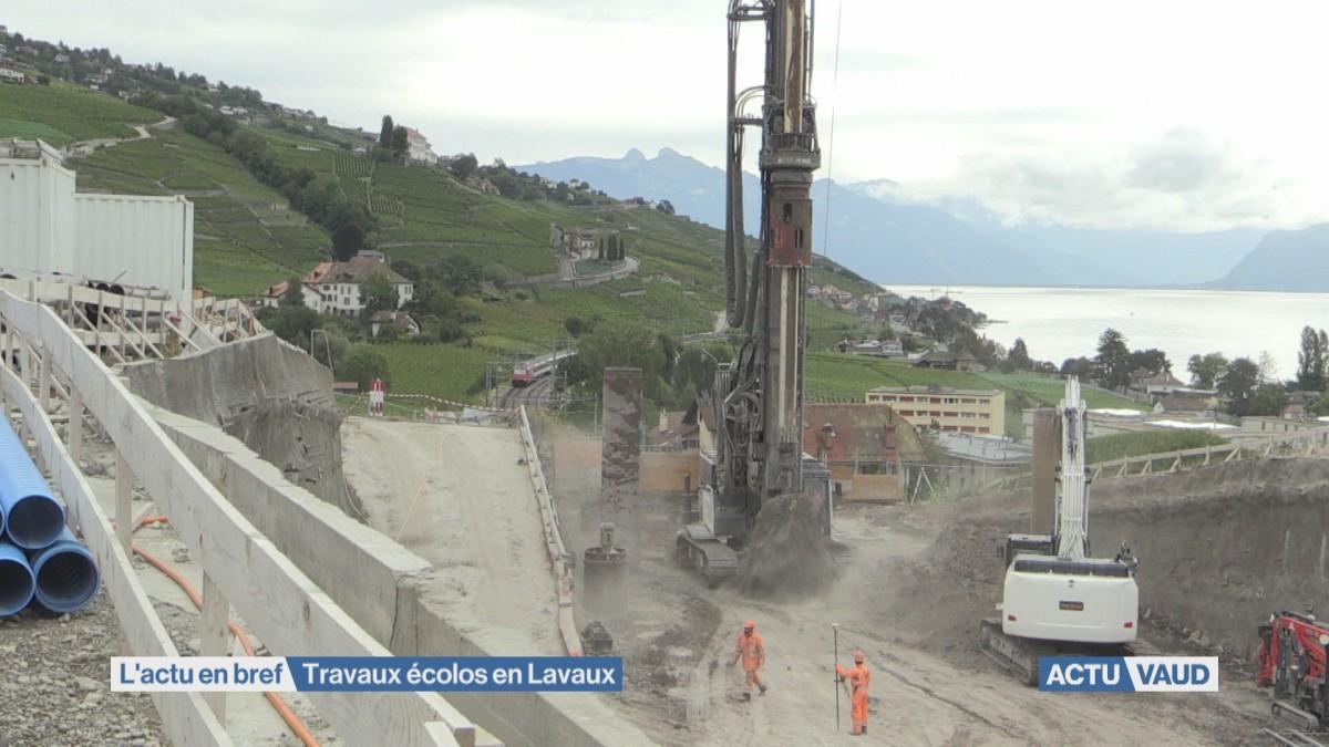 Tunnel de Bertholod à Lutry: des travaux écolos en Lavaux