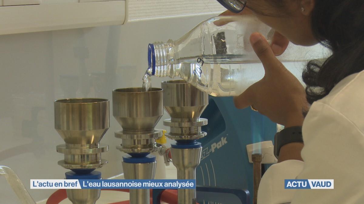L'eau mieux analysée à Lausanne
