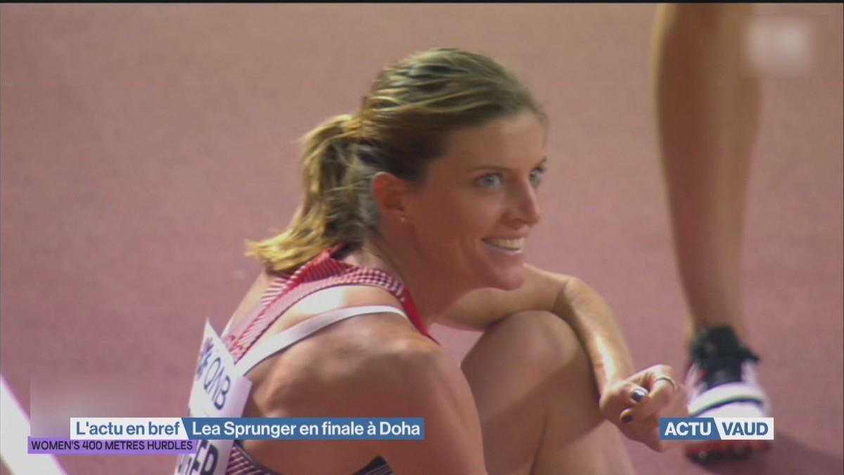 Lea Sprunger en finale à Doha
