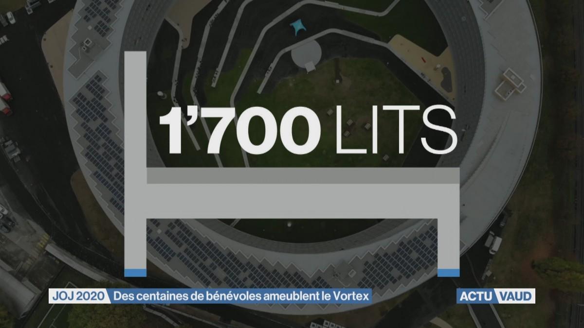 Le Vortex ameublé par 850 volontaires