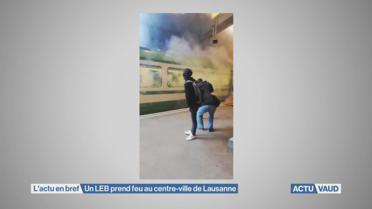 Un LEB prend feu au centre-ville de Lausanne