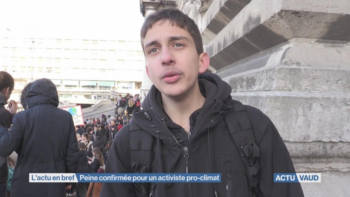Coorganisateur de la Grève du Climat condamné
