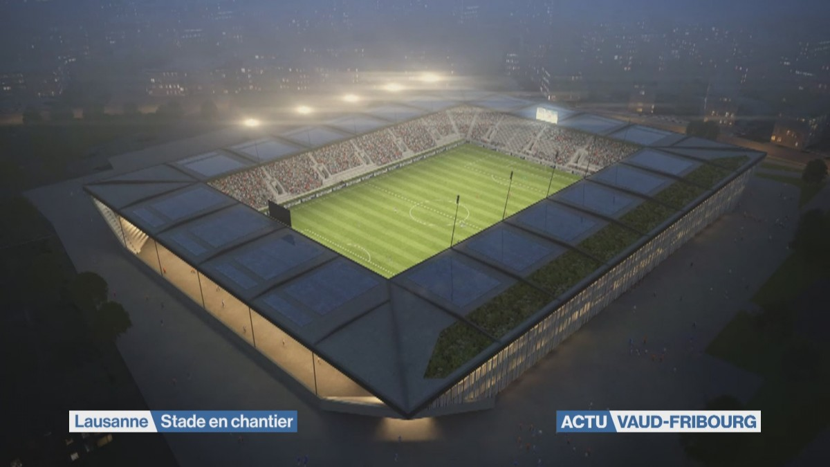 Le Stade de la Tuilière prend forme