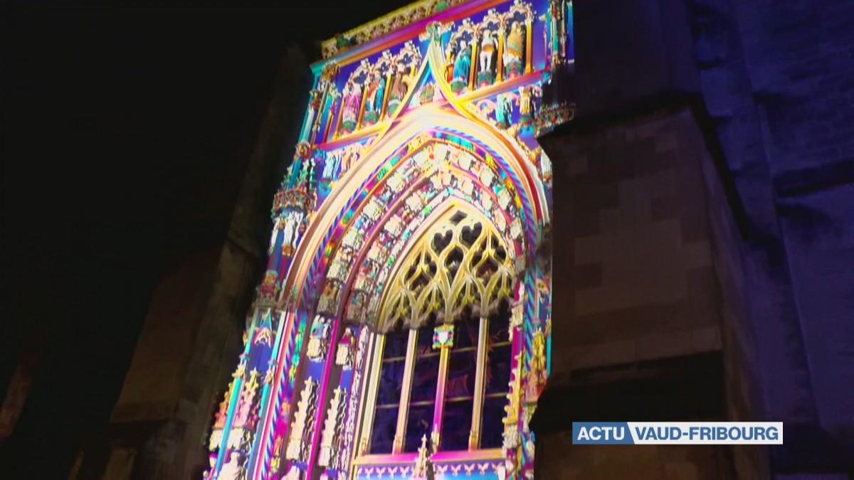 Lausanne Lumières illumine la cathédrale