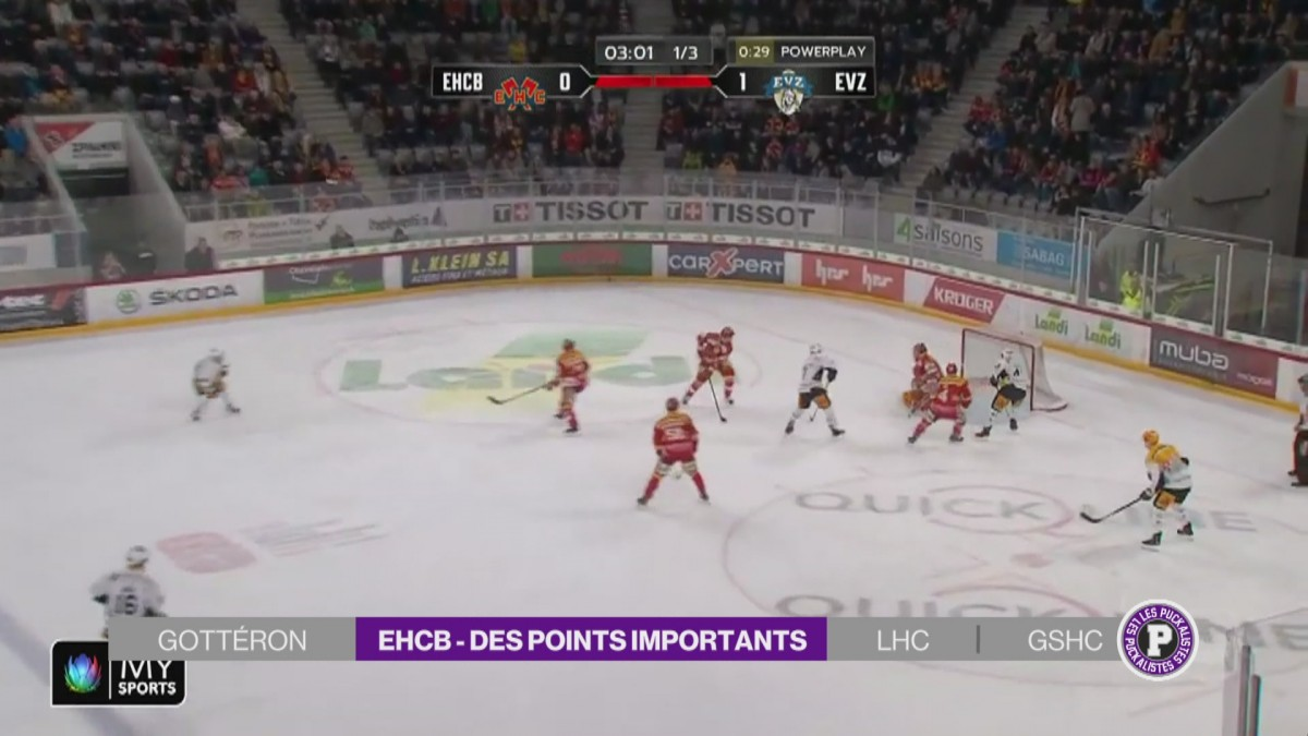 Bienne s'incline contre Zoug