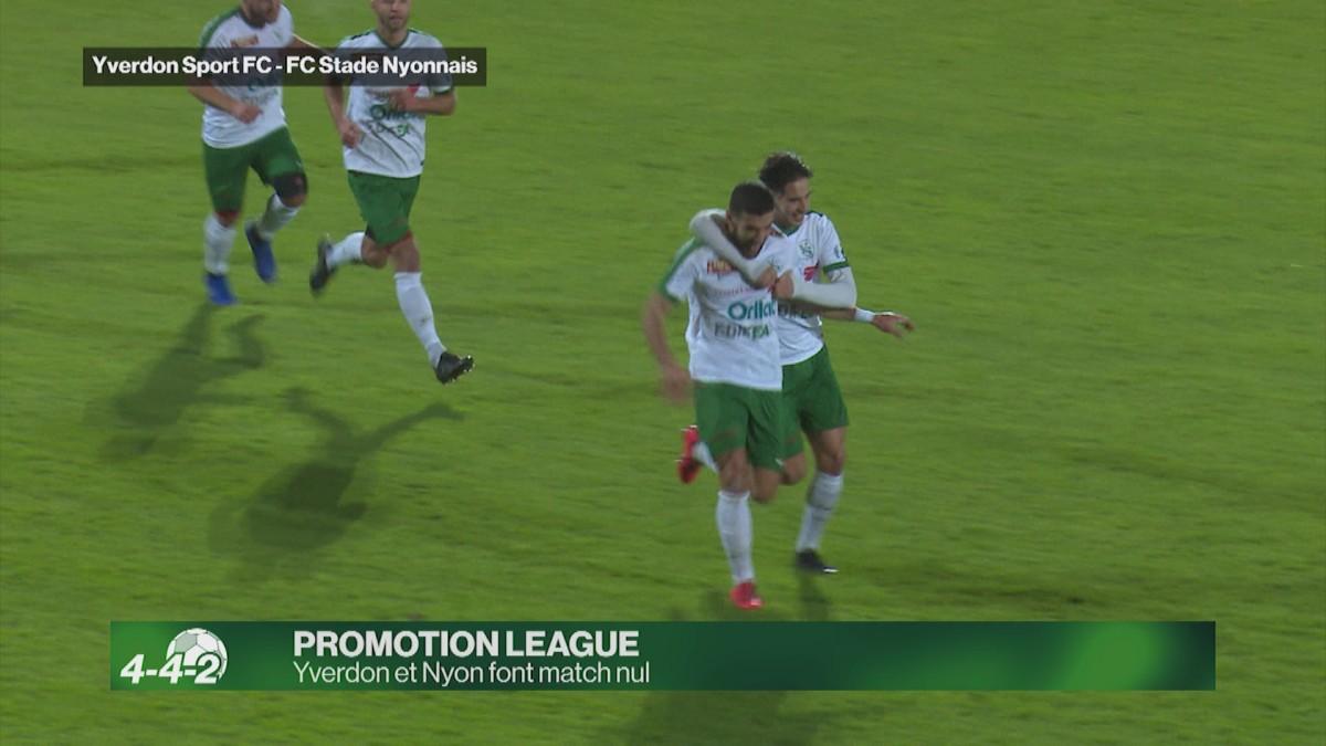Yverdon Sport et le Stade Nyonnais font match nul