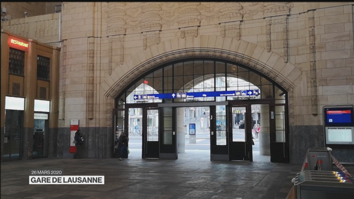 Ambiance Coronavirus à la Gare de Lausanne